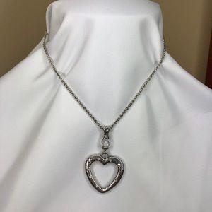 Brighton Heartland Silver Heart Necklace